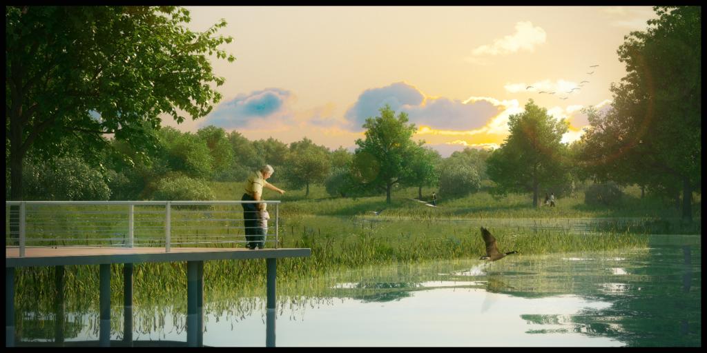 Blatchford Park (first stormwater pond)